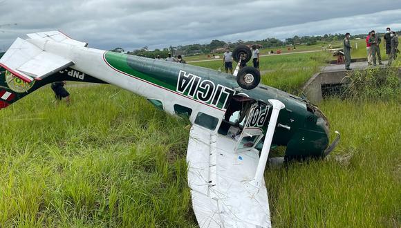 Los peritos vienen investigando las causas del accidente para determinar si la aeronave tuvo algún desperfecto mecánico (Foto: PNP)