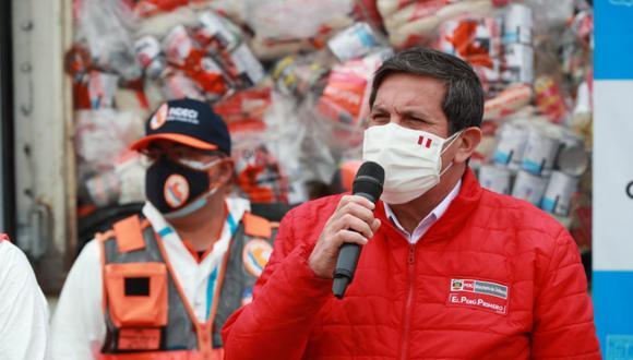 El ministro de Defensa, Jorge Chávez, saludó las disculpas del presidente del Congreso, Manuel Merino por comunicación con las Fuerzas Armadas. (Foto: Andina)