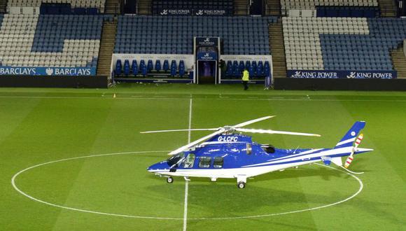 Las cinco personas que viajaban en el aparato, que despegó poco después de un partido de la liga inglesa entre el Leicester y el West Ham, fallecieron. (Foto: AFP).