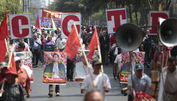 CGTP marchará junto a diversos gremios del país. (César Fajardo)