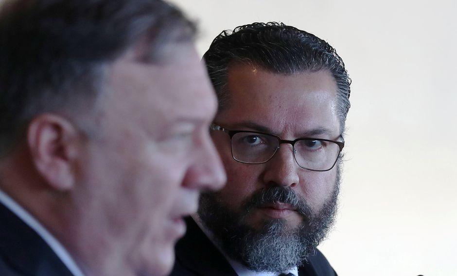El secretario de Estado de EE.UU., Mike Pompeo, se reunió con el canciller de Brasil. (Foto: Reuters)