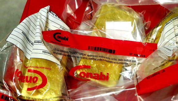 Las barras de oro pertenecía a la empresa Sol Creciente que había iniciado un trámite aduanero para exportarlo. (Foto: Ministerio Público)