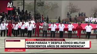 """Compañía """"Pongo el hombro por el Perú"""" se hace presente en desfile militar"""