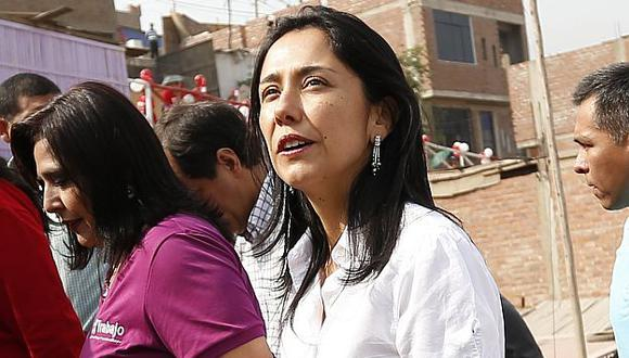 Nadine Heredia pasa mal momento en Yurimaguas. (USI)