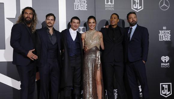 Los actores se reunieron en la alfombra roja de la película 'La Liga de la Justicia'.
