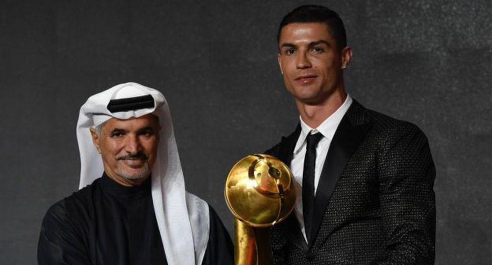 Cristiano Ronaldo se llevó el trofeo por sexta vez consecutiva. (Foto: @Globe_Soccer)