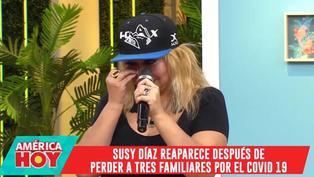 Susy Díaz llora al recordar a sus familiares fallecidos a causa del COVID-19