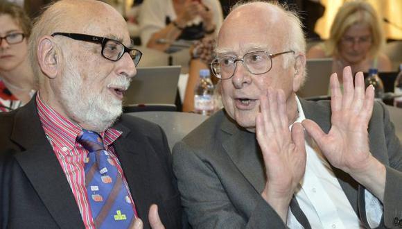François Englert y Peter Higgs. (EFE)