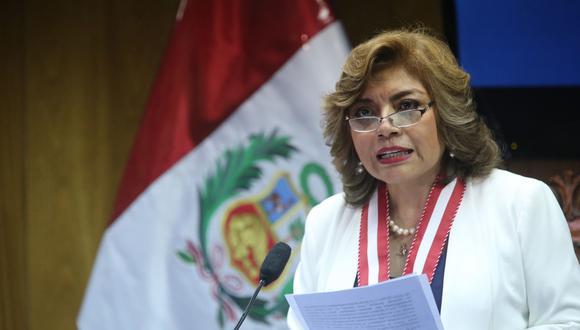 La fiscal de la Nación, Zoraida Ávalos, fue citada por los congresistas de la Comisión de Justicia. (Foto: Andina)