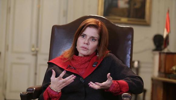 """Mercedes Araoz: """"Lo que hice básicamente fue un acto político"""". (GEC)"""