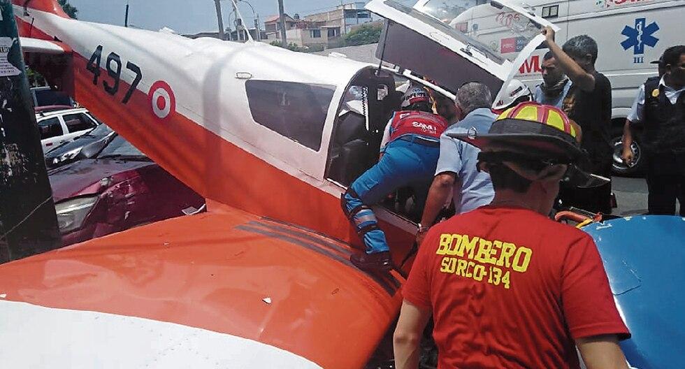 Los dos tripulantes de la nave fueron rescatados por personal del Ministerio de Salud.