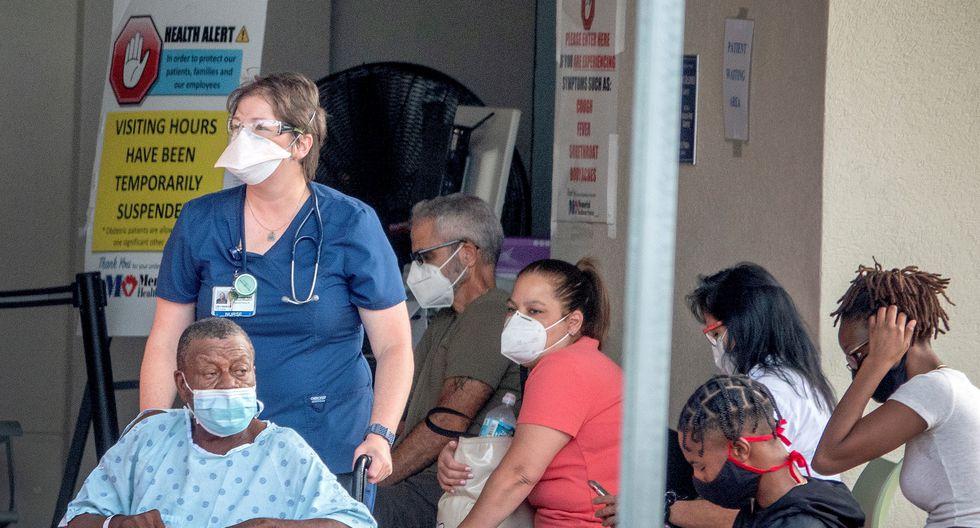 La cifra de nuevos contagios sigue por encima de los 50.000 arrastrada por los brotes en estados del sur y del oeste como Florida, Texas, California, Arizona y Georgia. (Foto: EFE/EPA/CRISTOBAL HERRERA-ULASHKEVICH)