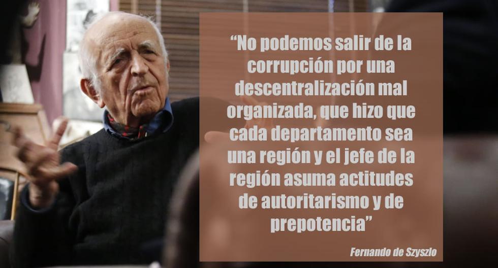 Fernando de Szyszlo brindó una comentada entrevista a Perú21. (Perú21)