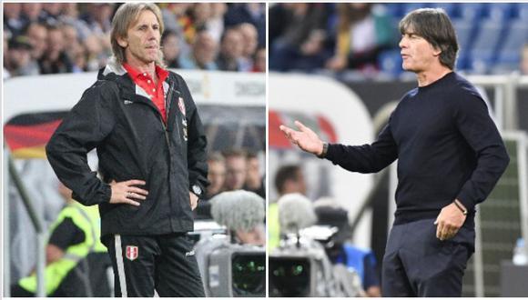 Löw buscó a Gareca en el vestuario para disculparse por una confusión. (Foto: AFP)