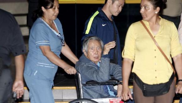 El ex mandatario recibió el indulto humanitario por parte del presidente Pedro Pablo Kuczynski. (Andina)