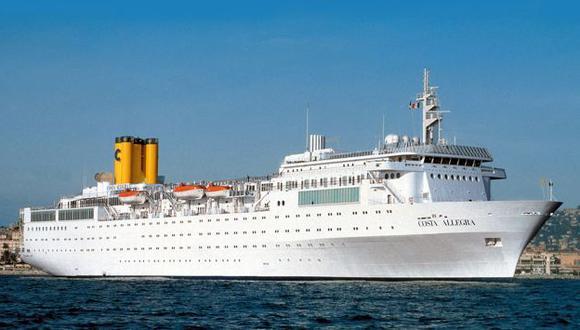 A SALVO. El Costa Allegra arribó a buen puerto tras 3 días a la deriva. (AP)