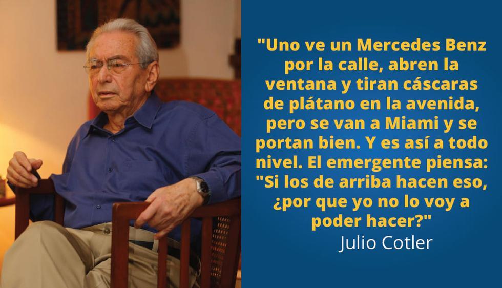 Julio Cotler: 10 enseñanzas que dejó el antropólogo sobre política, sociedad y economía.