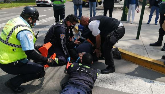 Recibió una atención rápida por parte de agentes de Serenazgo y Brigada de Rescate. (Municipalidad de Surco)