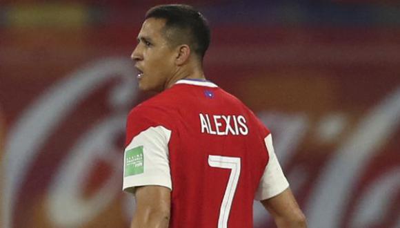Alexis Sánchez jugó los dos recientes partidos de Chile en las Eliminatorias Qatar 2022. (Foto: AFP)