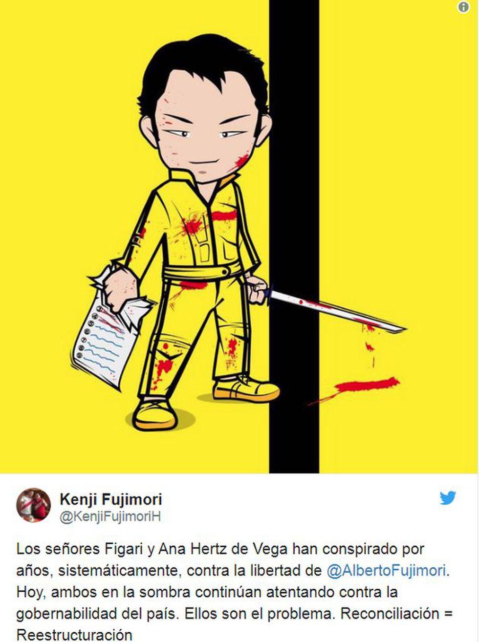 Kenji Fujimori atacó a entorno de Keiko