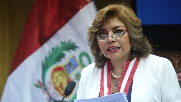 Zoraida Ávalos, fiscal de la Nación, señaló que respeta la autonomía de los fiscales. (Foto: Andina)