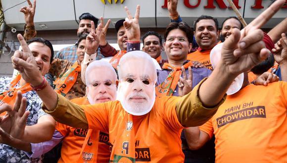 India: El partido de Narendra Modi reivindica victoria en elecciones legislativas. (AFP)