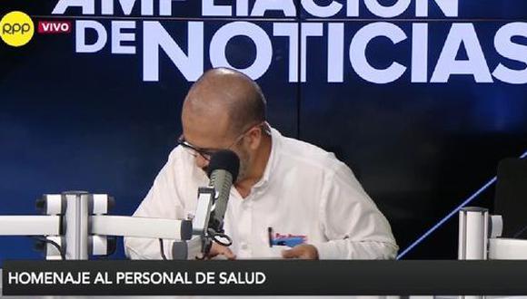 Ministro de Salud se emocionó al rendirle homenaje al personal de su sector. (Captura de TV)