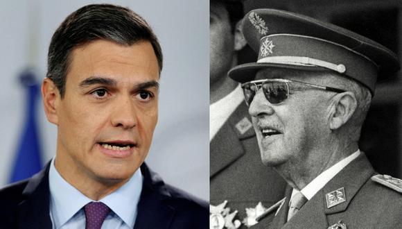 El Gobierno que preside el socialista, Pedro Sánchez, inició en agosto de 2018 los trámites para la exhumación del cadáver del general Franco. (Foto: EFE - AFP)
