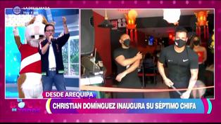 "Christian Domínguez inaugura séptimo chifa: ""Todo es por mis hijos"""
