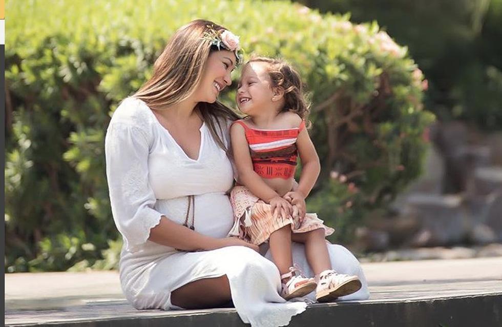Valentina, la hija mayor de Tilsa Lozano y Miguel Hidalgo, es la más emocionada con el nacimiento de Massimo. (Instagram)