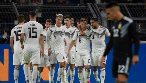 Alemania empató 2-2 con Argentina antes de visitar a Estonia en Tallin. (Foto: AFP)