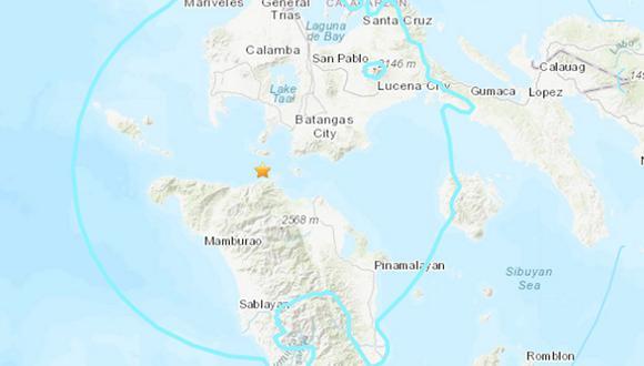El sismo se localizó a 109 kilómetros de profundidad y no se ha activado la alerta de tsunami. (Foto: USGS)