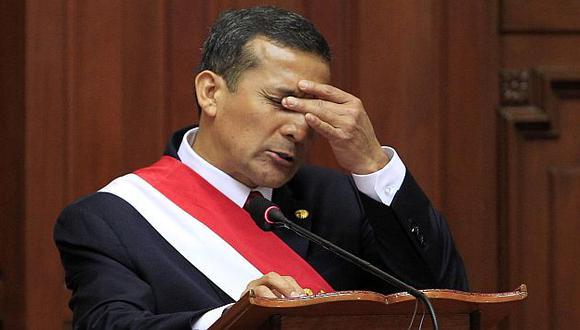 Ollanta Humala toca nuevo  fondo en su popularidad. (Reuters)