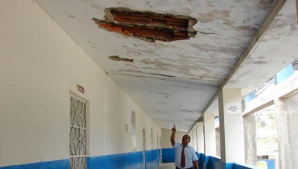 Tres colegios en Lima Metropolitana presentan graves problemas estructurales. (Perú21)