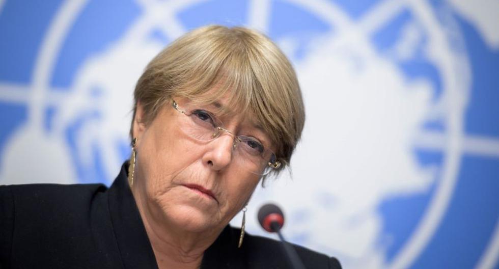 Imagen de Michelle Bachelet, Alta Comisionada de la ONU para los Derechos Humanos. (AFP / FABRICE COFFRINI).