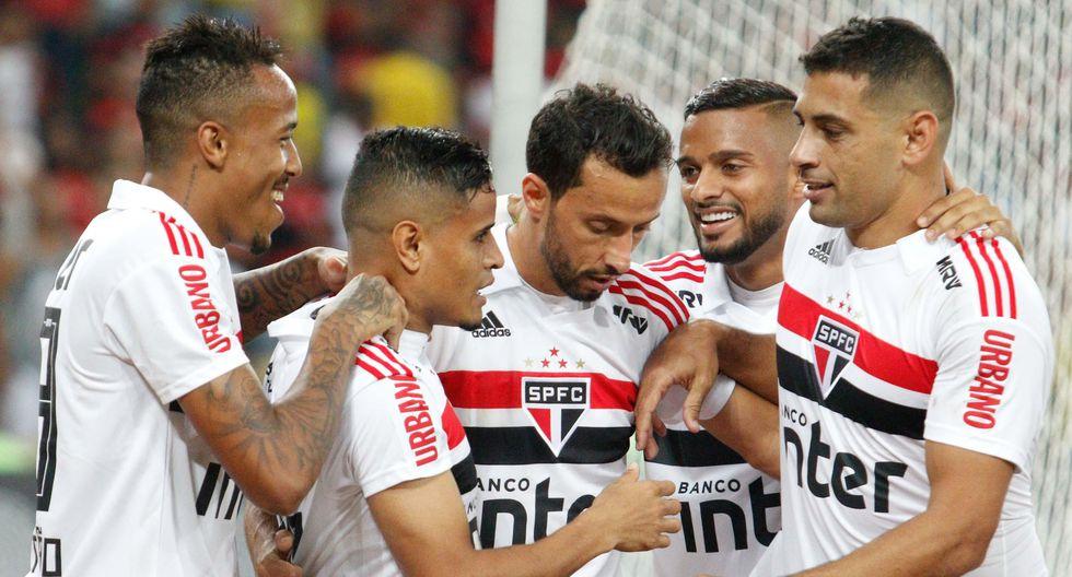 Everton, ex jugador del Flamengo, anotó el único gol del encuentro. (Getty Images)