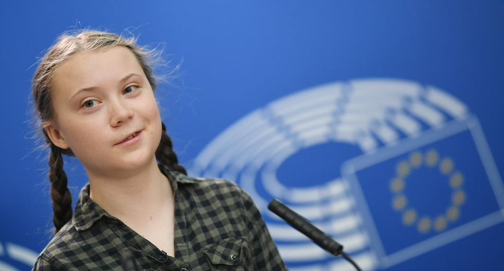 """Greta Thunberg dijo sentirse """"honorada"""" por recibir este premio y denunció la """"injusticia flagrante"""" del cambio climático que """"afecta más a las poblaciones del hemisferio sur. (Foto: EFE)"""