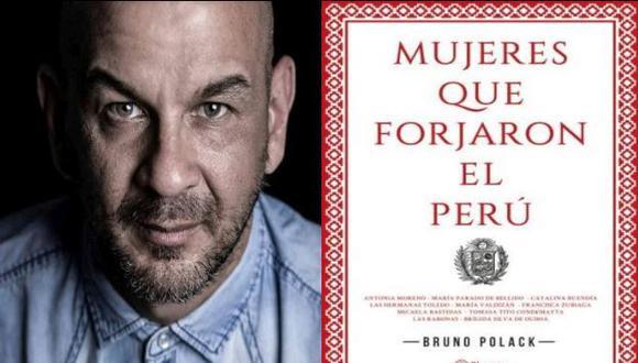 Bruno Polack presenta su nuevo libro 'Mujeres que forjaron el Perú'. (Composición)