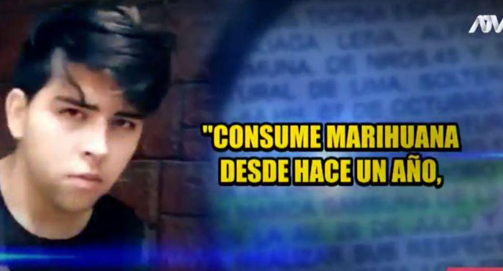 También admitió ser consumidor de marihuana desde hace un año, pues lo ayuda a mitigar su problema de depresión.  (Fuente: ATV)
