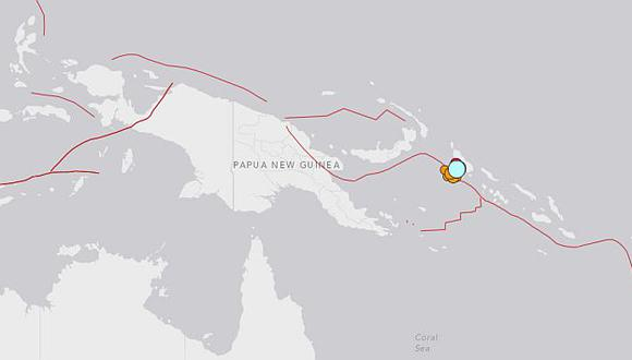 Terremoto de 7.5 grados sacude Papúa Nueva Guinea. (USGS)