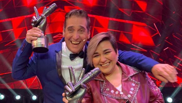 """Marcela Navarro a Guillermo Dávila tras ganar """"La Voz Perú"""": """"Gracias por girar esa silla"""" . (Foto: Latina)"""
