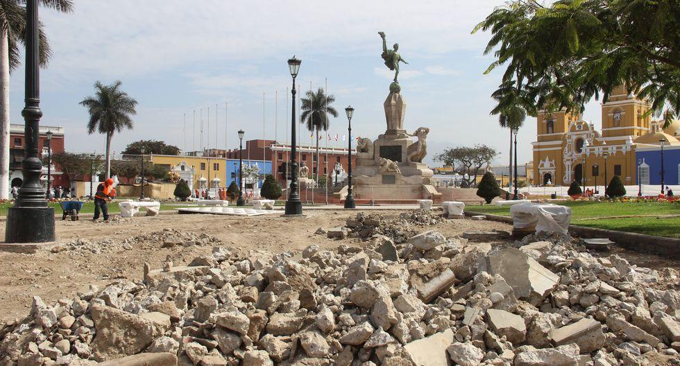 Obras en la Plaza de Armas de Trujillo están bajo la lupa.