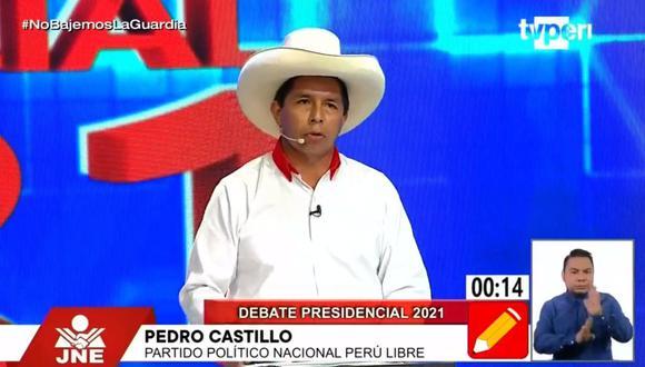 Pedro Castillo, candidato de Perú Libre. (Captura: TV Perú)