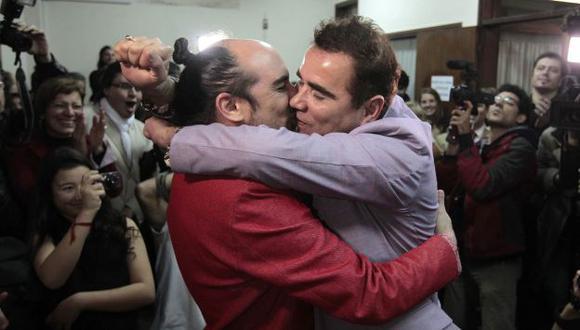 Rodrigo y Sergio se dieron el sí. (Reuters)