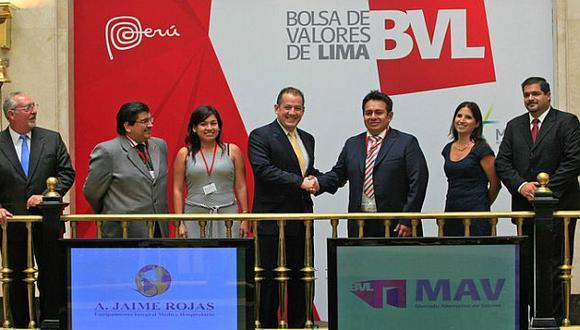 Ya son los pymes las que ingresaron a la Bolsa de Valores de Lima. (Andina)