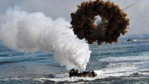 Corea del Norte y Corea del Sur intercambian disparos en su frontera marítima. (AFP)