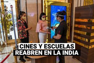 India: país autoriza la reapertura de cines y escuelas por primera vez desde marzo