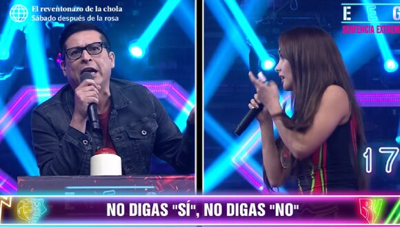 """Rosángela Espinoza y 'Carloncho' se reencuentran en """"Esto es guerra"""". (Foto: Captura América TV)"""