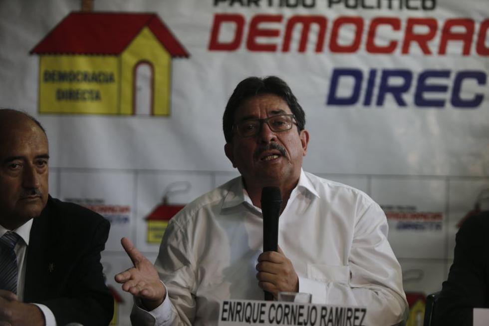 Enrique Cornejo no logró inscribir a su partido y tuvo que ser 'adoptado' por Democracia Directa para los comicios de octubre. (Perú21)