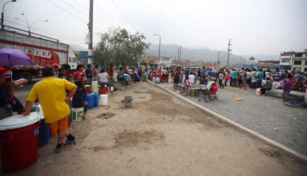 En la entrada al asentamiento humano Santa María. (Foto: Giancarlo Ávila)